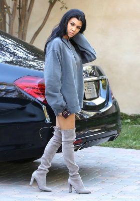 Kourtney Kardashian is a trendsetter when it comes to sexy and sleek winter fashion.